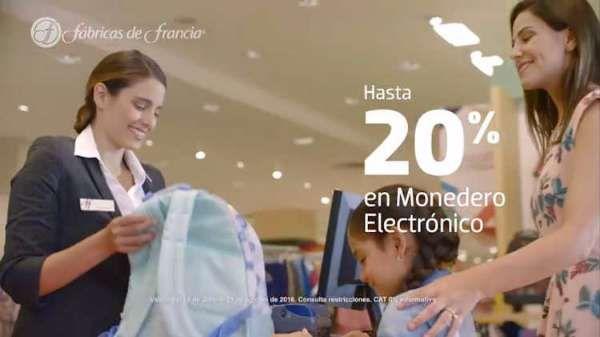 Las tiendas Fábricas de Francia tienen una promoción especial para este regreso a clases 2017, en la que podrás aprovechar Hasta 20% en monedero elect...