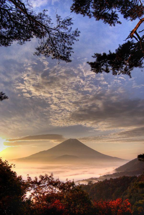 Mt. Fuji Taken At 5:00 a.m. In The Hills Above Lake Shoji In Yamanashi Prefecture, Japan (November 2005)