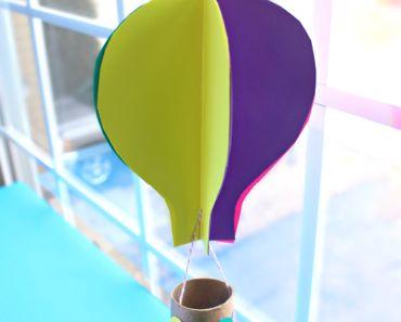 pyssel, pyssla, pysseltips, pysselidé, skapa, barnpyssel, familjepyssel, pyssel för barn, bättre hälsa, bra hälsa, må bra, kreativitet, skapande, skaparglädje, skola, fritids, förskola, luftballong, färgat papper, papperspyssel, toarulle
