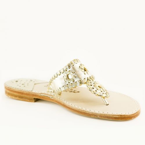 Palm Beach Sandals in Platinum-Gold. They feel so much better than my Jacks! #USAlove