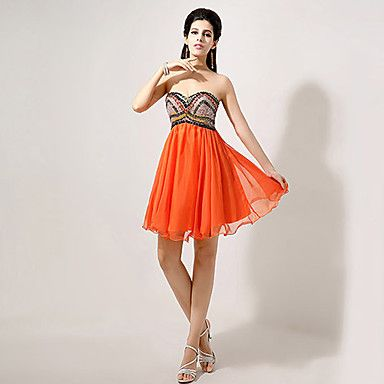 A-line Sweetheart Knee-length Evening Dress – CAD $ 138.99