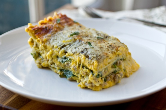 Autumn Lasagna with Creamy, Butternut Squash and Roasted Garlic Sauce ...