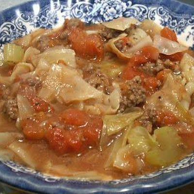 COUNTRY CABBAGE SOUP - Linda's Low Carb Menus.  Pretty good I just added carrots to mine and then a little red pepper