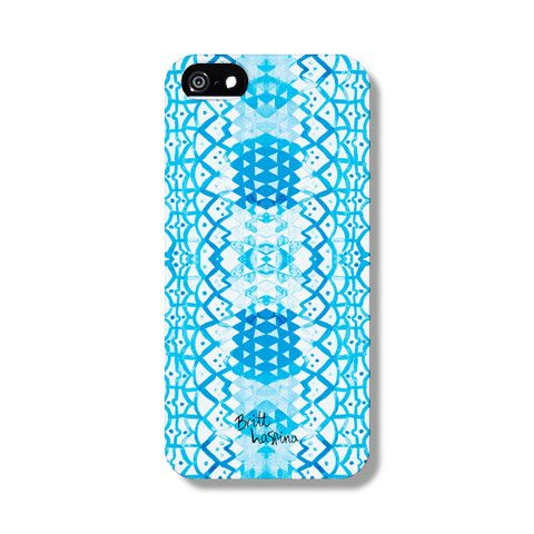 Blue Lines Phone Case from The Dairy Designed by BRITT LASPINA x