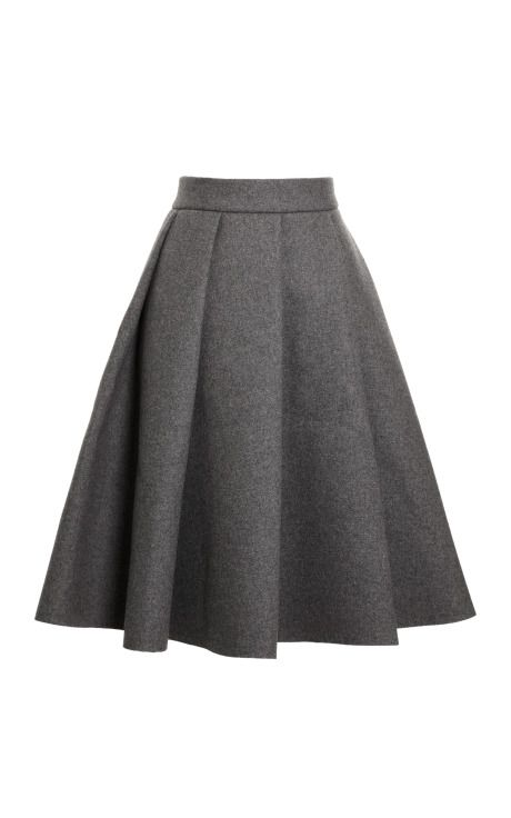 Pleated Bonded-Neoprene Wool-Blend Skirt by J.W. Anderson Now Available on Moda Operandi