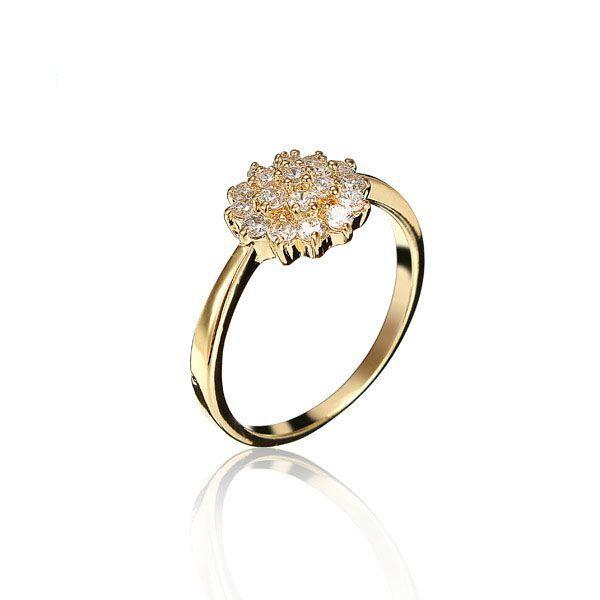 Sale 27% (4.19$) - Kuniu Cold Flower Zircon Rhinestone Alloy Finger Ring For Women