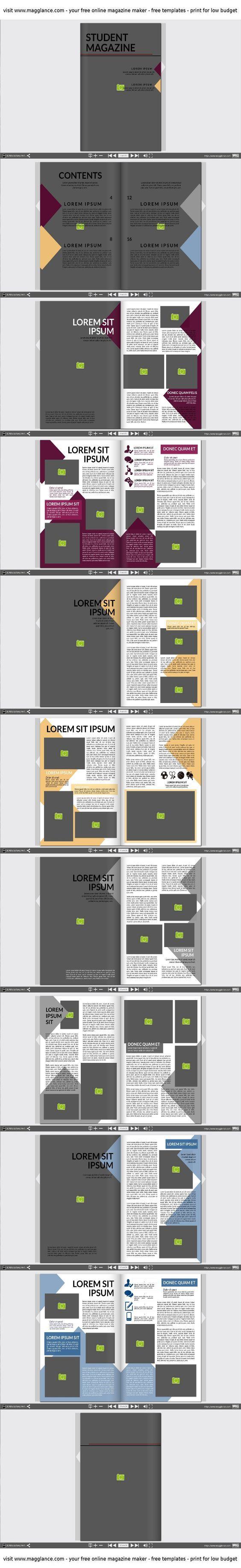 16 besten Design Vorlagen für Zeitungen Magazine und Kataloge