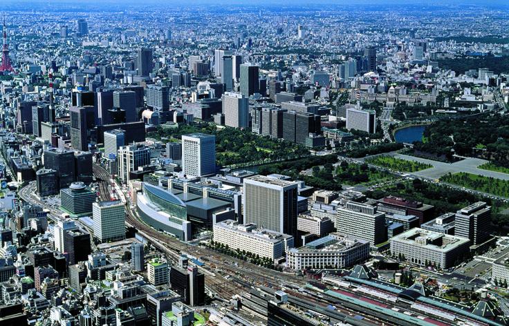 Tokyo International Forum | Rafael Viñoly Architects | Aerial view