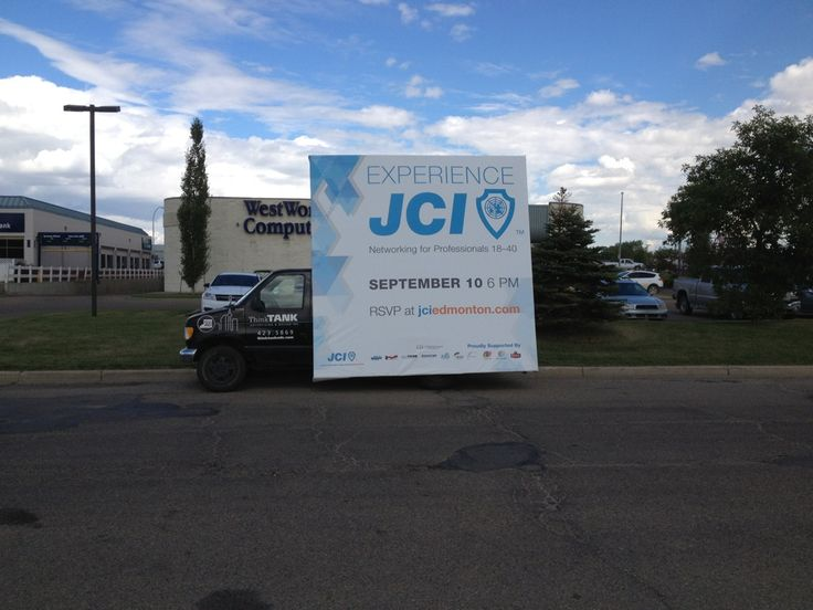 One of the latest Advans to hit the streets, JCI is promoting their Expereince JCI event with a Mobile Advan for maximum reach #outdooradvertising #alternativeadvertising #outofhomemarketing #mobilebillboard