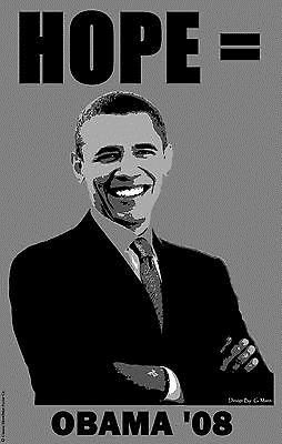 Barack Obama: Barack Obama 2008 Hope Campaign 11 X 17 Poster -> BUY IT NOW ONLY: $5.98 on eBay!