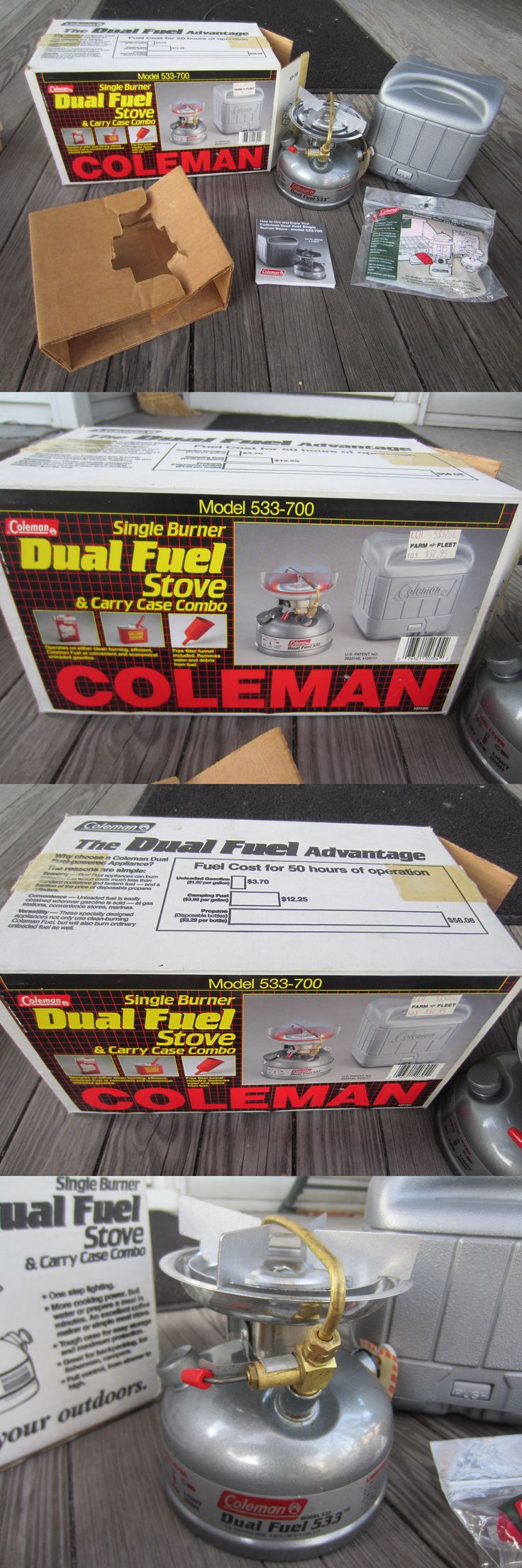 Camping Stoves 181386: Vintage Coleman Model 533-700 Dual Fuel Camping Stove W Case, Funnel, Orig Box! -> BUY IT NOW ONLY: $89.95 on eBay!