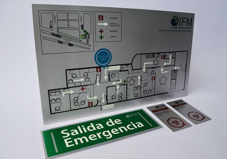Señalización de emergencia, #mapadeevacuación #SalidadeEmergencia #salida #señalización #ruta de evacuación