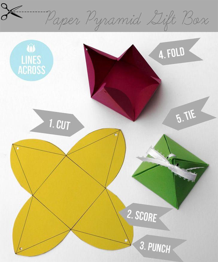 #DIY Paper Pyramid Gift Box