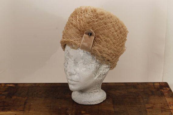SALE:  25% OFF    Beige Net Hat Woman Dress by ClockworkRummage