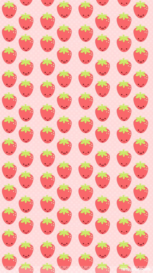 Kawaii Strawberry Pattern