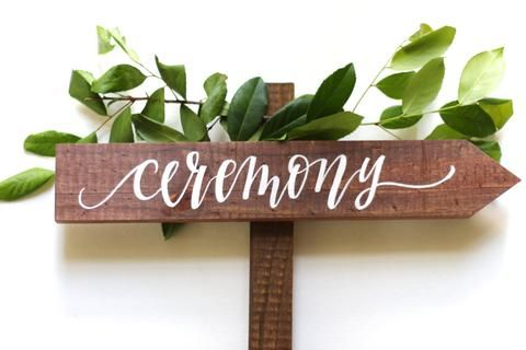 Rustic Wedding Directional Sign | Ceremony Signs | by Mulberry Market Designs