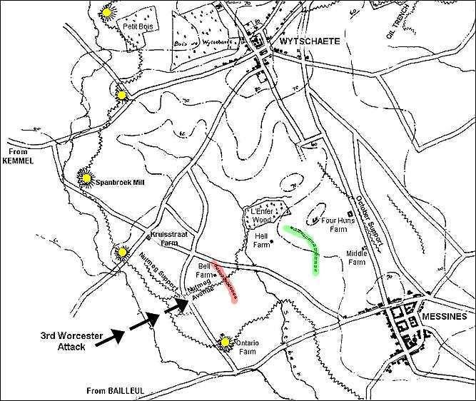 Battle of Messines Ridge (1917) - Worcestershire Regiment