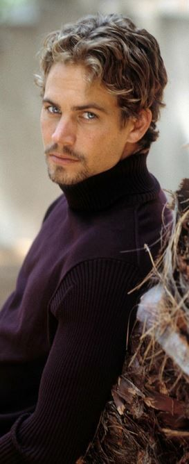 Paul Walker wearing black sweater