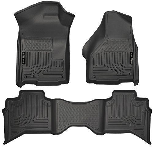 Husky Liners Front & 2nd Seat Floor Liners Fits 09-17 Ram 1500 Quad Cab