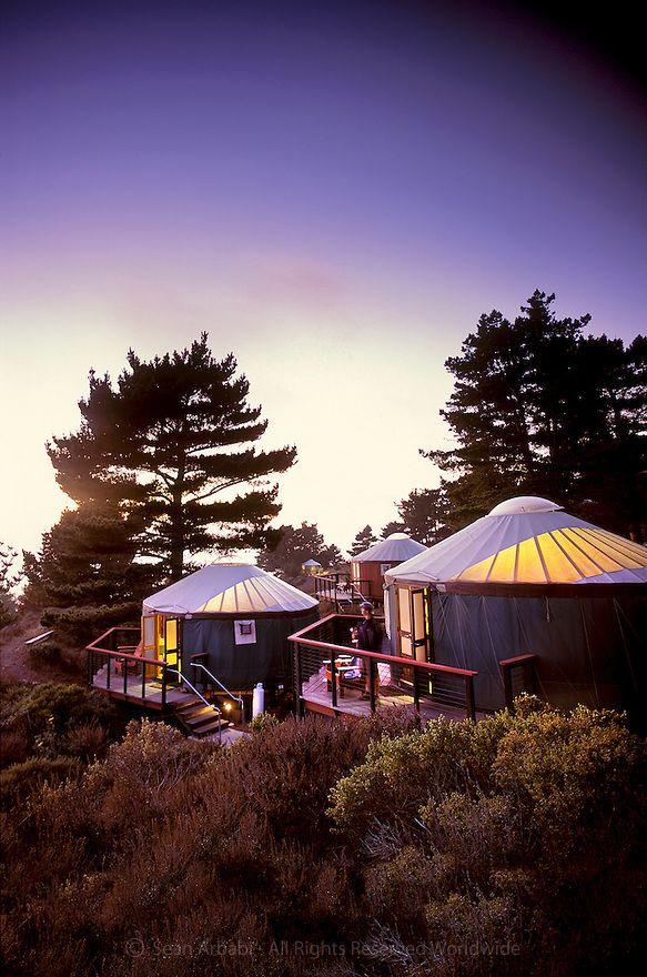 USA: California: San Luis Obispo County: Treebones Resort at sunset, in southern Big Sur along the California coast © Sean Arbabi   seanarbabi.com (all rights reserved worldwide)