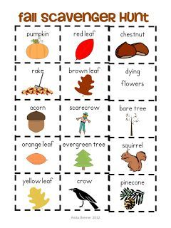 FREE Fall Scavenger Hunt activity {by Anita Bremer}