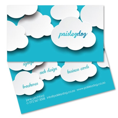 Paisley Dog Business Cards