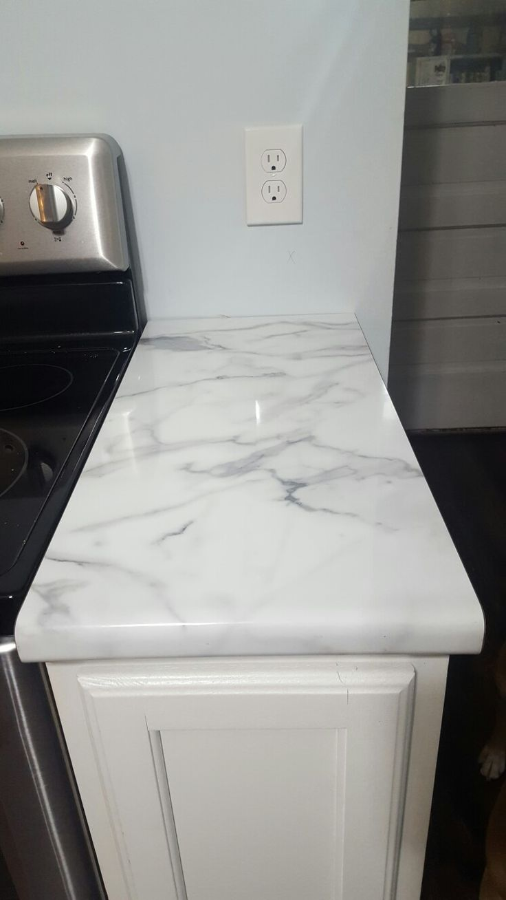 Our Formica 180fx Calacutta Marble high gloss countertops | Formica kitchen countertops. Formica countertops. Countertop colours