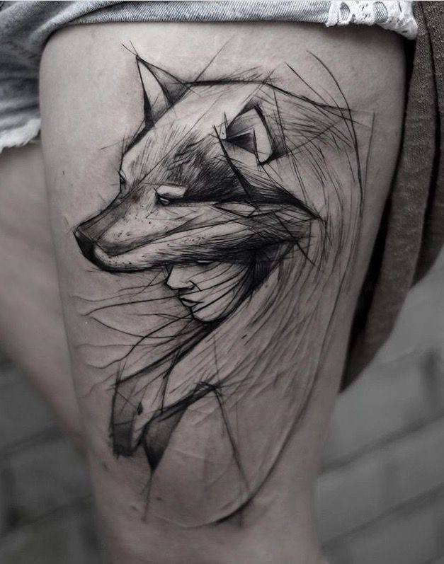 the 25 best wolf girl tattoos ideas on pinterest womens wolf tattoo wolf headdress and. Black Bedroom Furniture Sets. Home Design Ideas