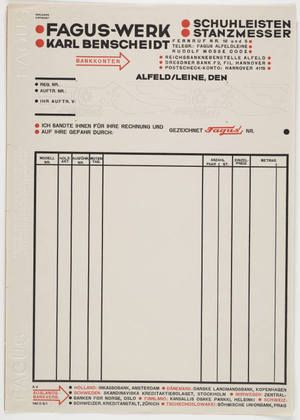 MoMA | The Collection | Johannes Molzahn. Fagus-Werk, Karl Benscheidt. 1922