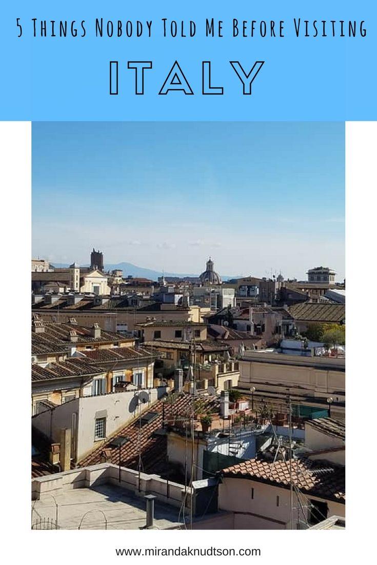 5 things nobody told me before visiting #Italy. | #Italytips #traveltips #europe #italytravel