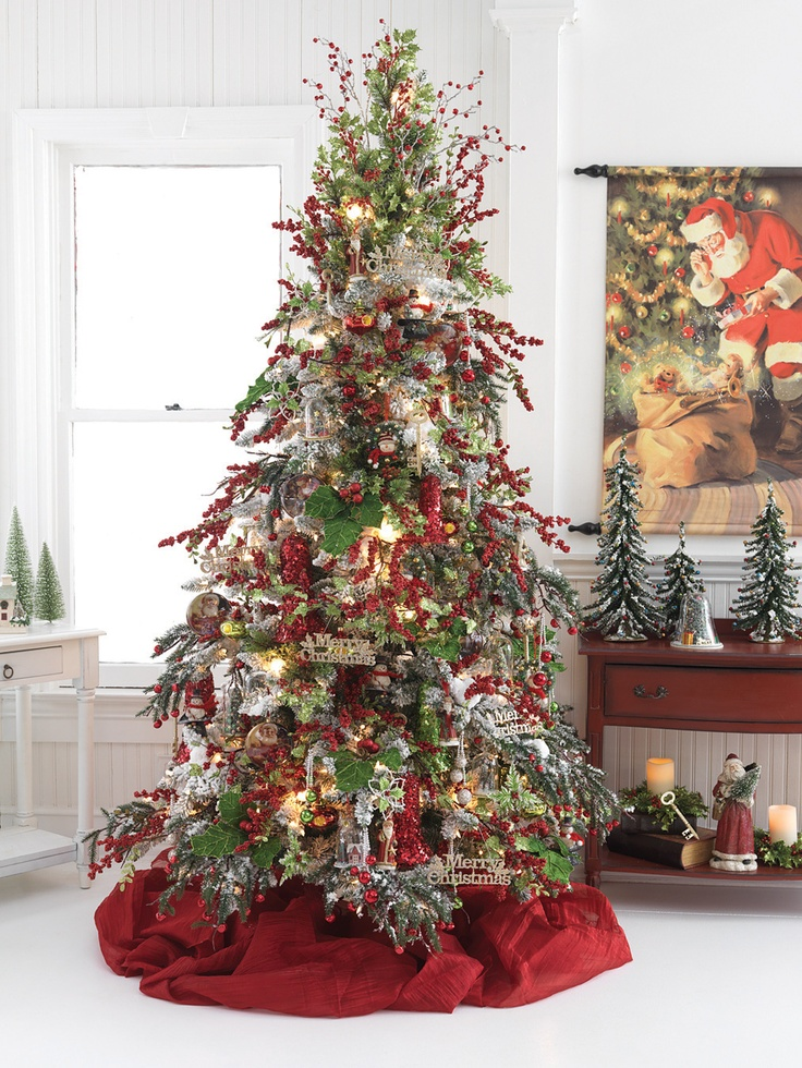 Pictures Of Flocked Christmas Trees