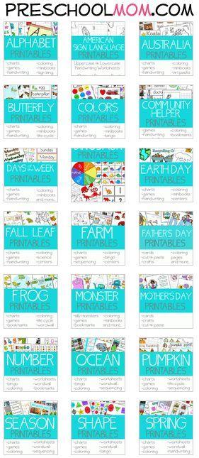 30+ Free Preschool Printables Themes Repinned by SOS Inc. Resources pinterest.com/....