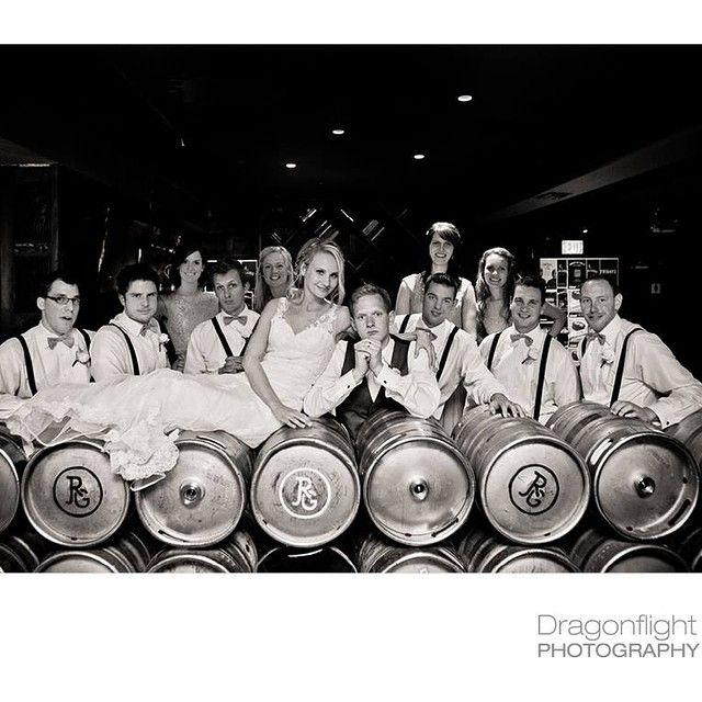 That time we went for a pint @josephrichardgroup #wedding #vancouvervenue #vancouverweddings #vancouverweddingphotographer #townhallpub #pubwedding #dragonflightphotography #bride #offbeatbride #beer #kegs