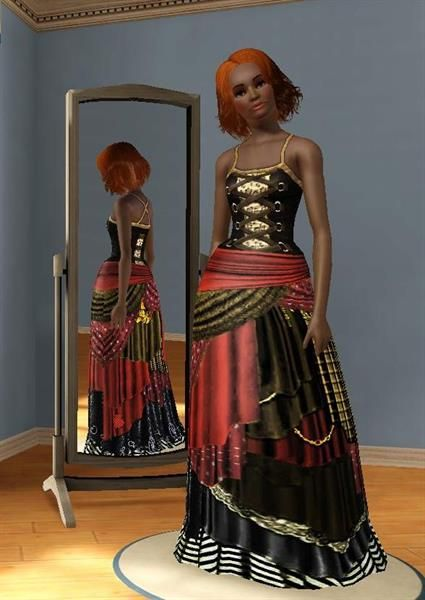 The sims 2 цыганские костюмы