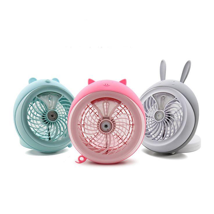Honana DX-F1 Portable Mini USB Misting Fan Water Spray Fan Rechargeable Personal Cooling Mist Humidifier Fan