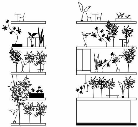 Tokyo townhouse by Ryue Nishizawa fronted by a stack of gardens rather than an exterior wall.