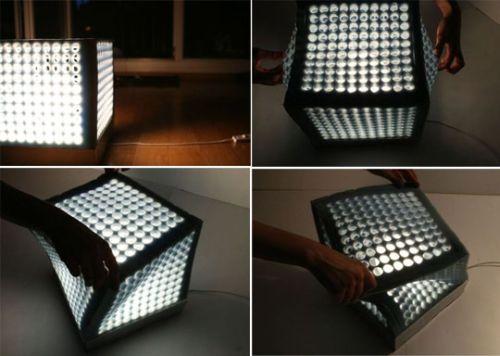 Cube Lamp By Ewa Garniec, La Lampada Che Cambia Forma