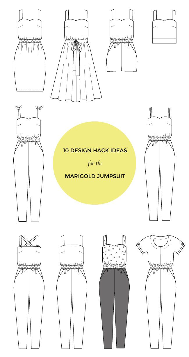 10 Design Hack Ideas for the Marigold Jumpsuit | Tilly and the Buttons | Bloglovin'