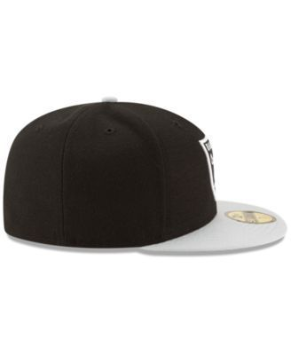 New Era Oakland Raiders Team Basic 59FIFTY Fitted Cap - Gray 7 1/8