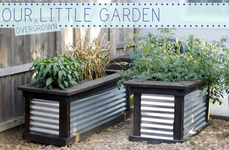 Rustic diy raised planters i am shameless pinterest - What to put under raised garden beds ...