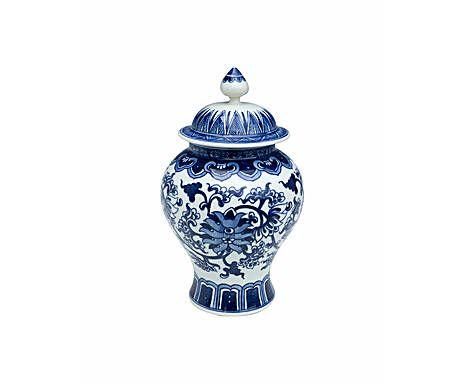Edges of the style: Чайная ваза с ручной росписью - керамика - синий - В23