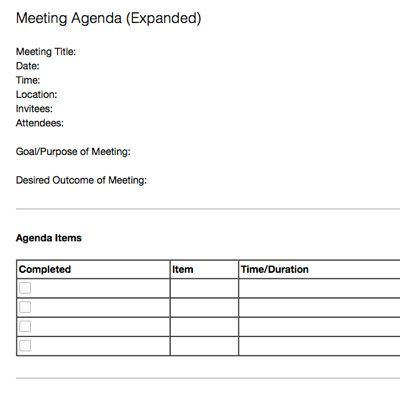 Meeting Memo Template A Principal Blog About Educational