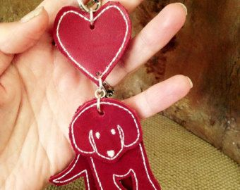 Puppy Love - handcrafted leather key ring bag charm - Edit Listing - Etsy