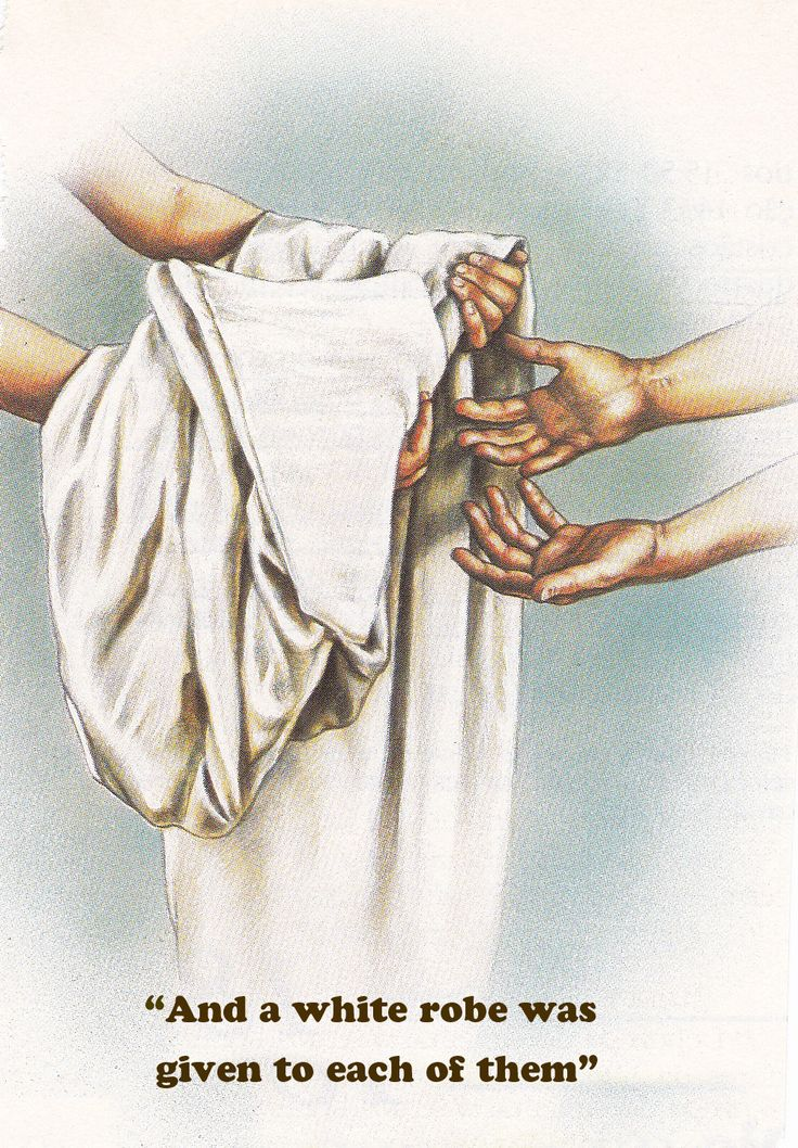 And white robes were given unto every one of them; and it was said unto them, that they should rest yet for a little season, until their fellowservants also and their brethren, that should be killed as they were, should be fulfilled. ~ Revelation 6:11