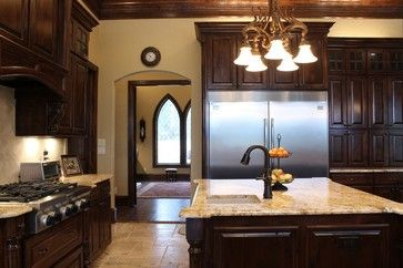 Beautiful New Kitchen With Stained Woodwork, Granite And Exquisite Tile  Floors . Designed And Built By Trent Williams Construction, Tyler, Texas