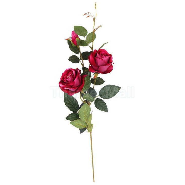 Artificial Rose Faux Silk Foral Wedding Home Flower Arrangement Decor Rosy