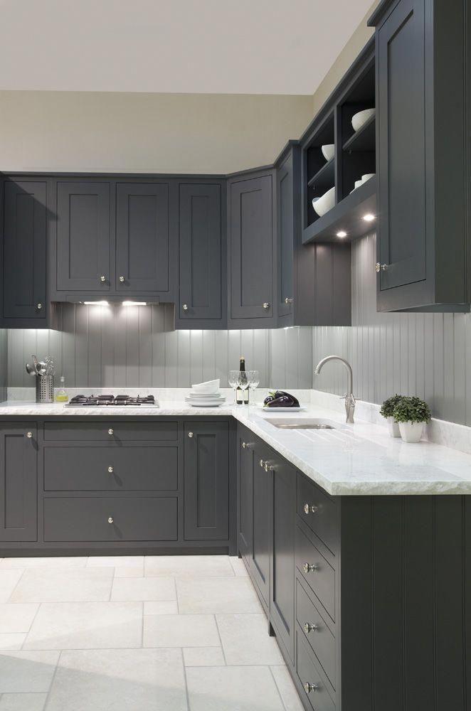 Plain English Kitchens Newcastle Design Tongue And Groove Splashback Flooringideasepoxy Grey Kitchen Designs Kitchen Cabinet Design Modern Kitchen Cabinets