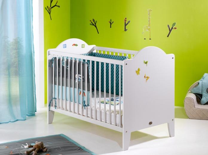 Le traditionnel lit à barreaux 60 x 120. Sommier réglable sur 3 hauteurs !