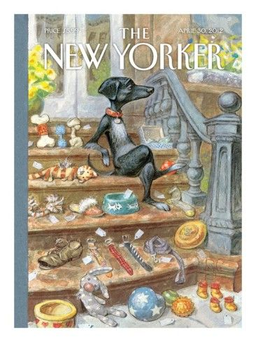 The New Yorker Cover.....The Dachshund by Peter de Seve