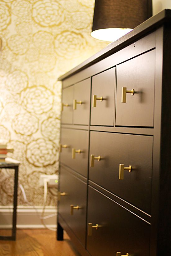 Just an example pic. I found these knobs today & will pin. Ikea Dresser hardware upgrade // JessLively.com